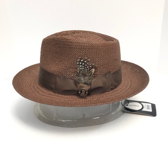 4543f45f9cdf4a Bruno Capelo Accessories | Mens Brown Straw Fedora Hat Escobar ...